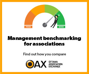 Management benchmarking for associations. Find out how you compare. Download last year's report. OAX Ottawa Association Exchange.
