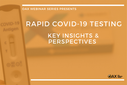 """View webinar video of """"Rapid COVID-19 Testing: Key Insights and Perspectives"""""""