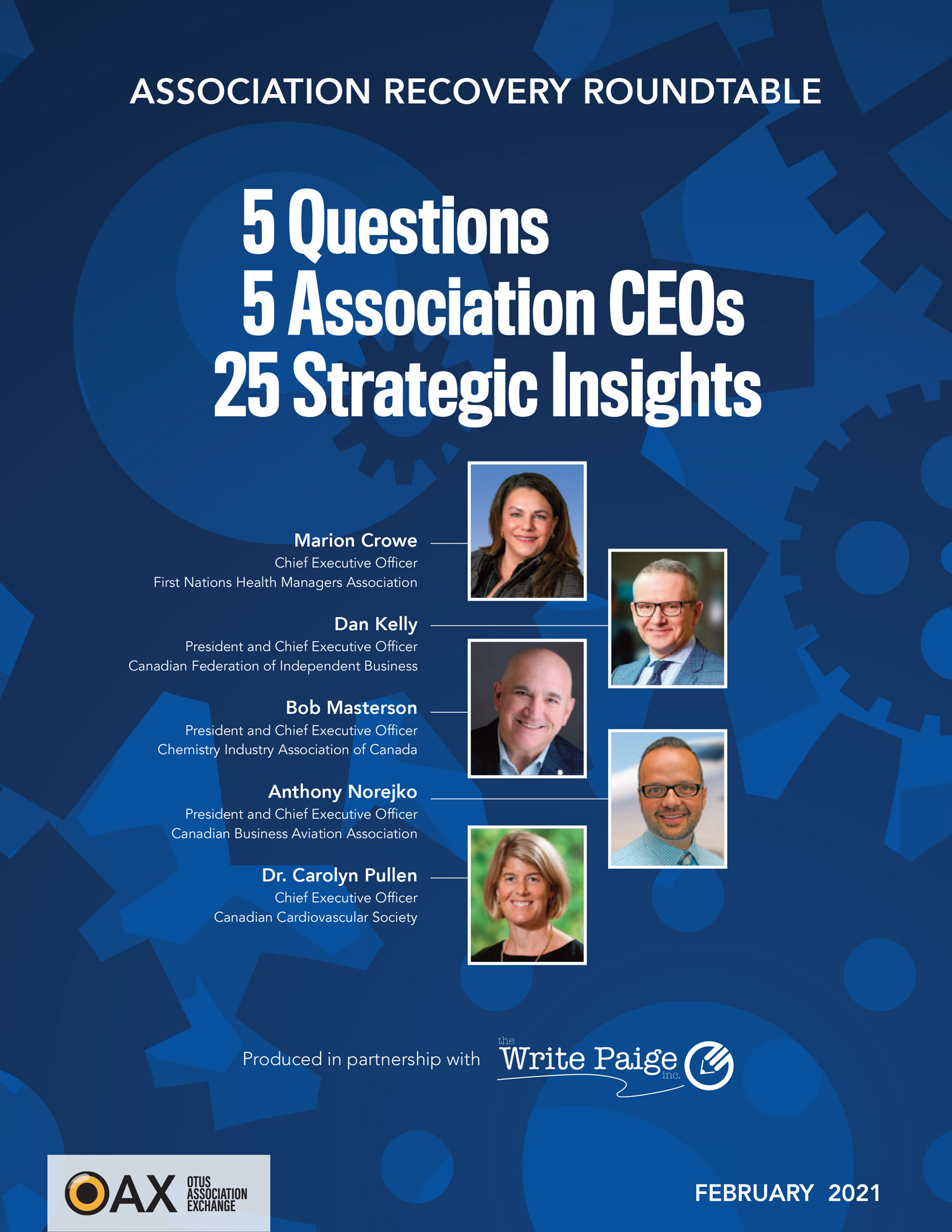 Association Recovery Roundtable: 5 questions, 5 association CEOs, 25 strategic insights with Marion Crowe, Dan Kelly, Bob Masterson, Anthony Norejko, Dr. Carolyn Pullen